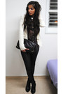 Deep-purple-topshop-blouse-black-leather-topshop-pants