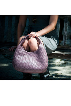 purple Bottega Veneta accessories