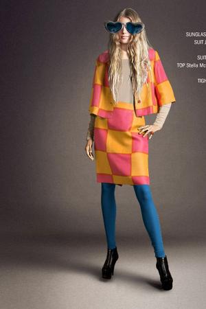 blue Bruuns Bazaar leggings - blue Beyond Retro sunglasses - Marimekko suit - bl