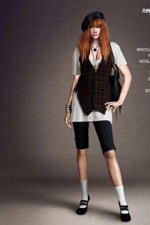 One Teaspoon vest - Accessorize hat - Bruuns Bazaar pants - H&M shoes - One Teas