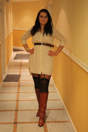 Frye boots - H&M shirt - Michael Kors watch