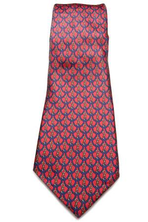 red vintage silk eaton tie