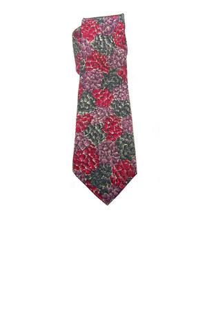 red vintage silk Hugh Park tie - charcoal gray vintage silk Equeglitz tie