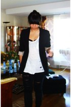 GINA TRICOT blazer - Zara top - H&M pants - Zara shoes