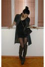 Olive-green-knee-high-boots-olive-green-dark-green-dress