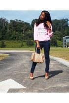 DIY sweater - H&M bag - Bersh pants - Bershka pumps