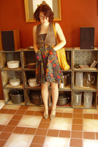 brandless vest - homemade dress - Daisy shoes - Furla purse