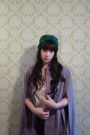 YarnOverMovement merino turban headband hat