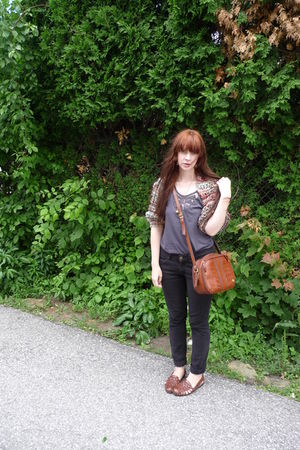 brown YarnOverMovement cardigan