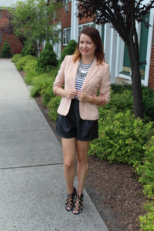 Forever 21 blazer - Target shoes - Zara shorts - hm necklace