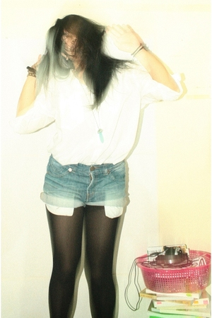 shorts - blouse - tights