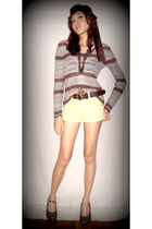 brown accessories - brown Jill top - brown Chocolate co accessories - gold short