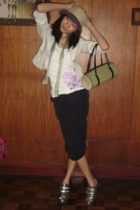 Old Navy top - I forgot pants - Old Navy blazer - Greenhills purse - f21 scarf -