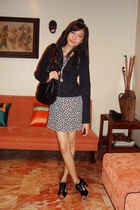 D&G jacket - vintage dress - Given by Nints accessories - Nine West accessories