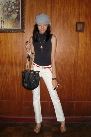 H&M hat - Mango top - Ralph Lauren pants - D&G accessories - f21 accessories