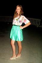 H&M blouse - H&M belt - H&M skirt - H&M shoes