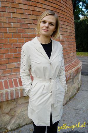 DIY coat - Zara jeans - Louis Vuitton bag - Gucci flats