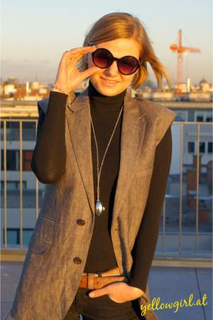 DIY vest - Zara shirt - Chloe necklace - Primark glasses