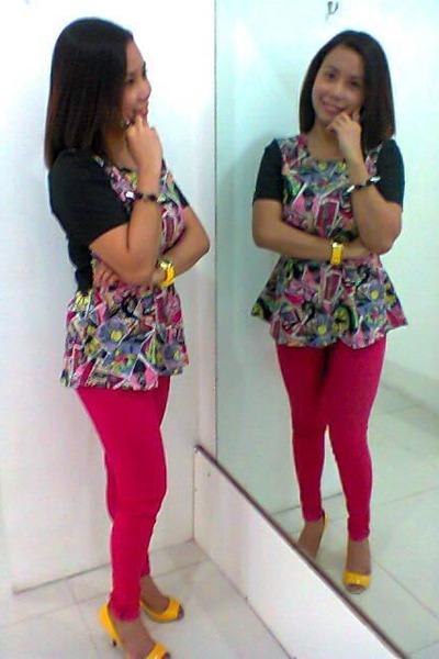 peplum Choe Ko blouse - spike bangles bracelet