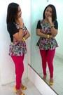 Peplum-choe-ko-blouse-twill-pants-a-p-creative-pants