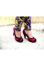 Brick-red-the-little-things-she-needs-pumps-magenta-dc-classics-cardigan