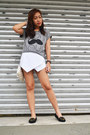 Heather-gray-bonjour-just-chic-shirt-white-origami-skort-yesh5deal-skirt