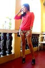 Lace-top-forever-21-blouse-floral-shorts-just-chic-shorts