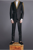 white club-collar Duly Equipped shirt - dark gray Duly Equipped pants