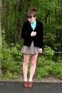Navy-velvet-vintage-blazer-maroon-multicolored-forever-21-skirt-aquamarine-p