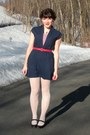 Black-mary-janes-payless-shoes-navy-salvation-army-dress-white-ralph-lauren-