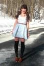 Brown-blimey-oxfords-seychelles-shoes-black-polka-dot-urban-outfitters-socks-