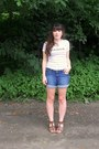 White-france-urban-outfitters-shirt-navy-denim-gap-shorts