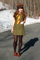 dark brown mink vintage hat - brown blimey oxfords seychelles shoes