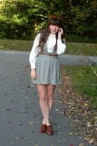brown blimey oxfords seychelles heels - brown mink vintage hat