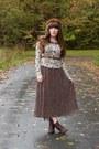 Dark-brown-cheerio-seychelles-boots-dark-brown-thrifted-dress