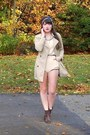 Dark-brown-cheerio-seychelles-boots-beige-trench-h-m-coat-navy-vintage-scarf