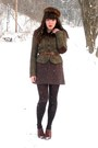Brown-blimey-oxfords-seychelles-shoes-dark-brown-mink-vintage-hat-olive-gree