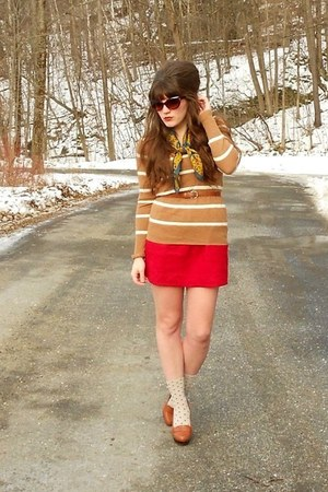 brown leighton heels Bamboo loafers - camel striped merona sweater