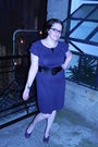 Purple-mossimo-dress-purple-sjp-bitten-shoes-black-target-belt-black-untam