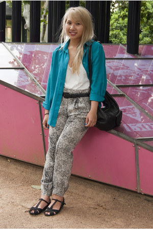white Forever 21 top - Silence & Noise pants