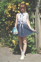 navy yeye hair accessory - light blue OASAP bag