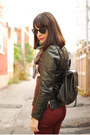 Black-leather-jacket-vintage-jacket-brown-vintage-boots-maroon-zara-jeans