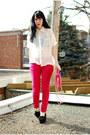 Hot-pink-zara-jeans-hot-pink-vintage-bally-vintage-bag