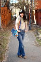 vintage blouse - Forever 21 boots - Vintage Levis jeans - asap bag
