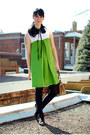 Black-vintage-shoes-chartreuse-vintage-dress-black-urban-outfitters-tights