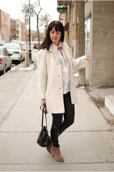 Off White Vintage Coats, Camel Urban Outfiters Boots, Black Asos ...