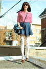 Red-american-apparel-dress-white-winners-tights-light-blue-gaya-bag