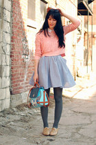 light blue Simones Rose skirt - light pink Urban Outfitters sweater