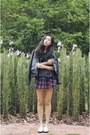 Black-leather-from-france-jacket-navy-chiffon-taobao-top