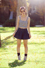 Stripe-crop-top-love-culture-top-mini-jean-skirt